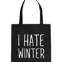 I Hate Winter Christmas Tote Bag