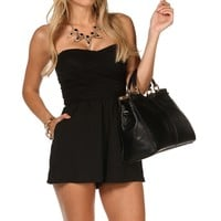 Criss Cross Back Short Romper