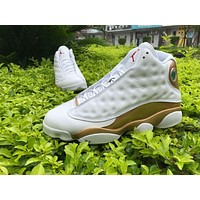 Air Jordan Retro 13 DMP White Gold Red Basketball Shoes Men 13s Defining Moments Sneakers With Shoes Box
