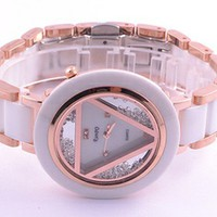 Triangle sliding Watch for fashion girl