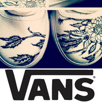 BreakFree Designs on VANS White Canvas Made to by BreakFreeDesigns