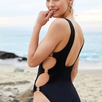 LA Hearts Ring Side One Piece Swimsuit at PacSun.com
