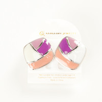 Multi Colored Textured Earrings