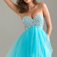 Strapless Homecoming Dress by Night Moves 6487