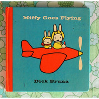Vintage children's book by Dick Bruna  Miffy Goes by MirjamTheresa
