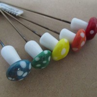 Glass Mushroom Pipe Poker - Choose your color