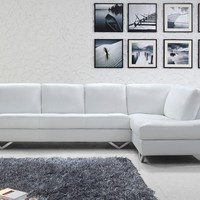 Elegant Modern White Sectional Sofa