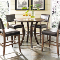 102009 Cameron 5-Piece Counter Height Round Wood Dining Set with Parson Stool - Free Shipping!