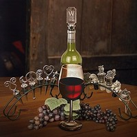 Wine Bottle Stopper Display Rack, Stopper Stand, or Holder - Holds 6 Stoppers (Stoppers Not Included)