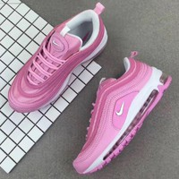 Tagre™ Nike Air Max 97 Fashion Casual Women Pink Running Sneakers Sport Shoes I