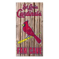 St. Louis Cardinals MLB Fan Cave Retro Wood Sign (6in x12 in)