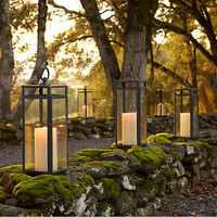 Santorini Square Lanterns Weathered Zinc
