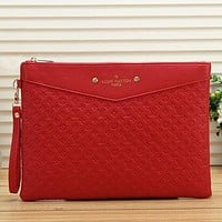 Louis Vuitton LV Women Fashion Leather Envelope Clutch Bag Tote Handbag Bag