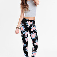 Forgotten Field Floral Leggings - $34.00 : ThreadSence, Women's Indie & Bohemian Clothing, Dresses, & Accessories