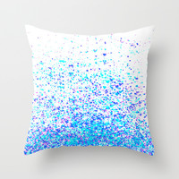 sparkly blue Throw Pillow by Marianna Tankelevich