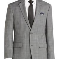 Bill Blass Gray Plaid Modern Fit Suit Separates (Outlet) - null | Men's Wearhouse