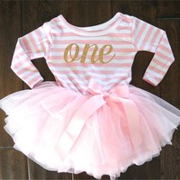 0-2 Years Baby Princess Girl Dress One Piece For Toddler Girl Clothing Stripe Tutu Dress Children Casual Dresses Infant Clothes
