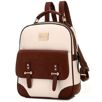 British Style Vintage Backpack School Bag