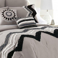 8-Piece Grey Embellished Comforter Set