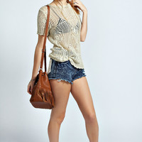 Connie Crochet Knit Top