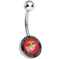United States Marine Corps Belly Ring   Body Candy Body Jewelry