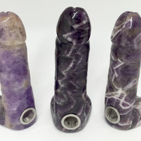 Amethyst Crystal Dick Pipe
