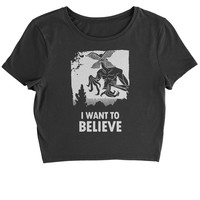 Demogorgon I Want To Believe Cropped T-Shirt