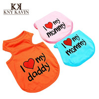 New 2014 Dog Clothes Free Shipping Pet Clothes For Dog Lovely I Dog Clothes Soft Cotton Dogs Products Hot Sales Pet HP097