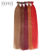 "Neitsi 20"" 1g/s 50g 100g Nano Bead Ring Human Hair Extensions 100% Brazilian Virgin Remy Hair Straight Soft & Smooth 19 Colors"