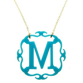 Acrylic Adele Initial Necklace {30 Color Options}