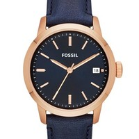 Fossil 'Townsman' Leather Strap Watch, 36mm   Nordstrom