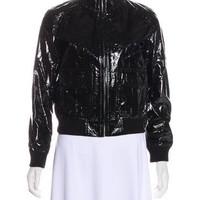 Patent Leather Bomber Jacket w/ Tags