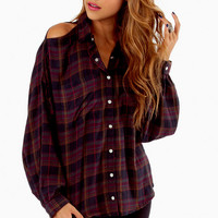 Slightly Showing Plaid Top $35