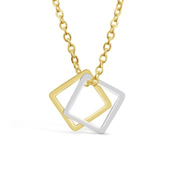 Hollow Squares Necklace