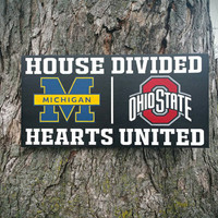 """Customize YOUR House Divided 12""""x24"""" Handpainted Wood Sign"""
