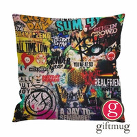 5 seconds of summer all time low my chemical romance fall out boy blink 182 nirvana green day Cushion Case / Pillow Case