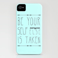Be Yourself iPhone Case by Sandra Arduini | Society6