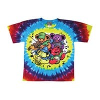 Grateful Dead Men's  Bear Jamboree Tie Dye T-shirt Multi