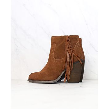 Sbicca - Marimba Suede Ankle Boots with Fringe in Tan