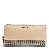 LEGACY ACCORDION ZIP WALLET IN STUDDED LEATHER