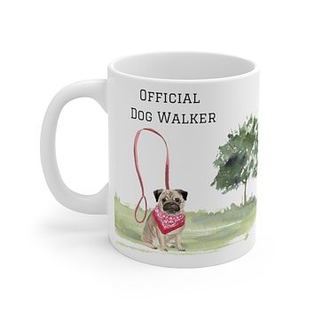 Official Dog Walker Mug — Pug