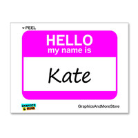 Kate Hello My Name Is Sticker