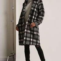 Plaid Buttoned Topcoat