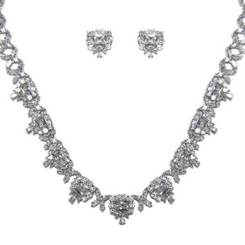 Demetria Art Deco Radiant Cut Necklace Set