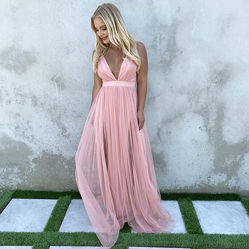 Must Have Been Love Pink Maxi Dress
