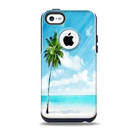 The Paradise Beach Palm Tree Skin for the iPhone 5c OtterBox Commuter Case