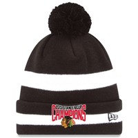 Men's Chicago Blackhawks New Era Black 2015 Stanley Cup Champions Two-Tone Knit Hat