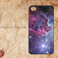 Personalized iphone 4 case,iphone 4s case,Fox Fur Nebula Space Galaxy iphone 4/4s hard case,Galaxy iphone cases