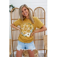 Well With My Soul Graphic Tee - Mustard