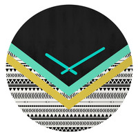 Allyson Johnson Mixed Aztec 1 Round Clock